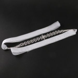 rhineston sash ribbon bridal wedding belt